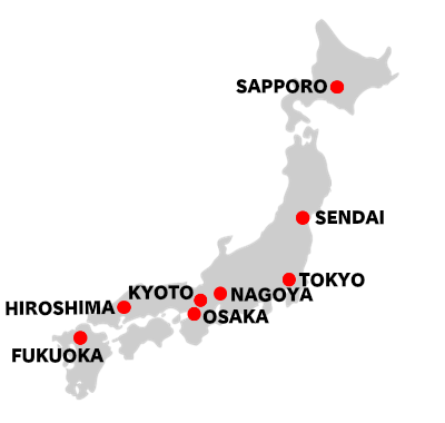 Links Tips FIXERS JAPAN - Japan map of cities